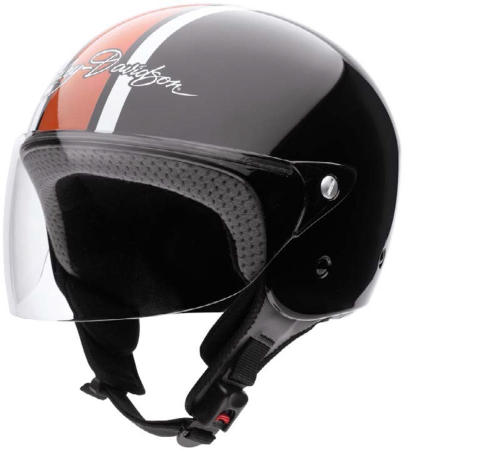 harley davidson prestige 3 4 gloss black open face helmet large. Black Bedroom Furniture Sets. Home Design Ideas