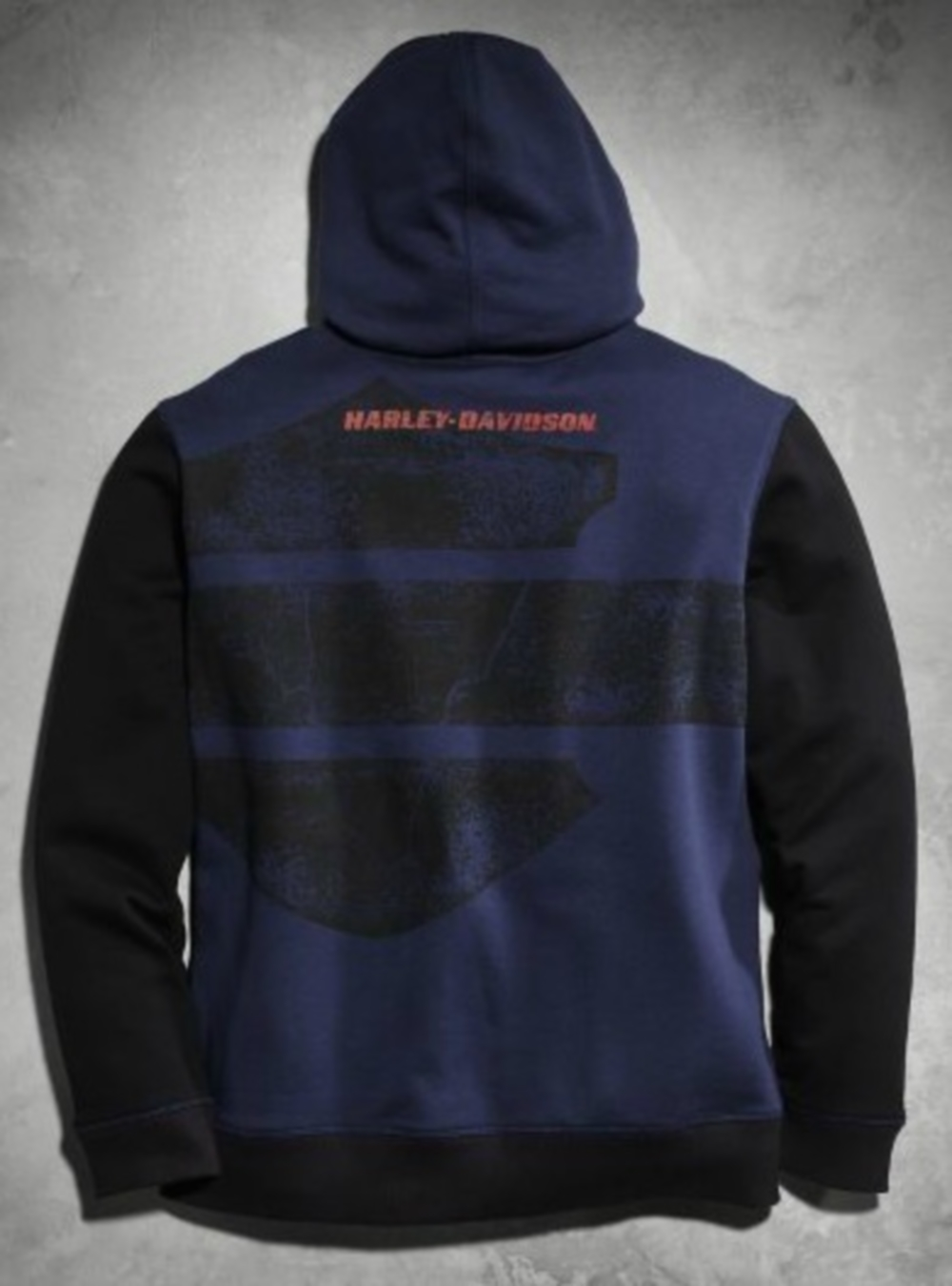 harley davidson pullover hoodie mens blue xl ebay. Black Bedroom Furniture Sets. Home Design Ideas
